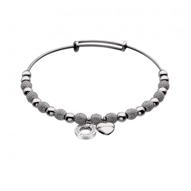 Emozioni Silver Plate Ula Bangle