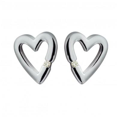 Head Over Heels Silver Earrings