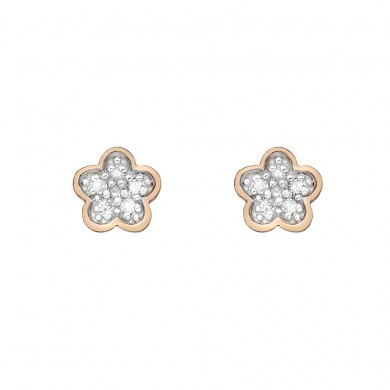 Stargazer Rose Gold Plated Sterling Silver Flower Earrings