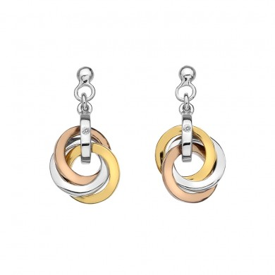 Trio Earrings - Rose and Yellow Gold Plated Accents