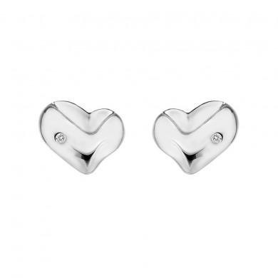 Lunar Heart Studs