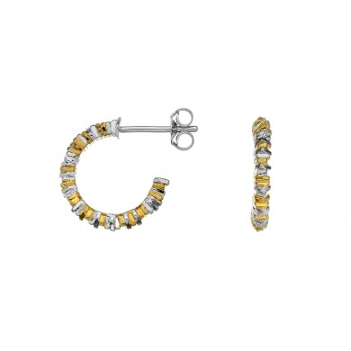 By the Shore Hoop Earrings - Yellow Gold Plated Accents