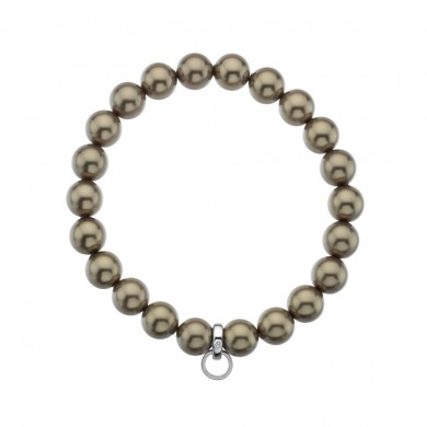 Bronze Crystal Pearl Charm Carrier - Small