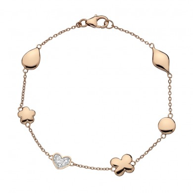 Stargazer Rose Gold Plated Sterling Silver Bracelet