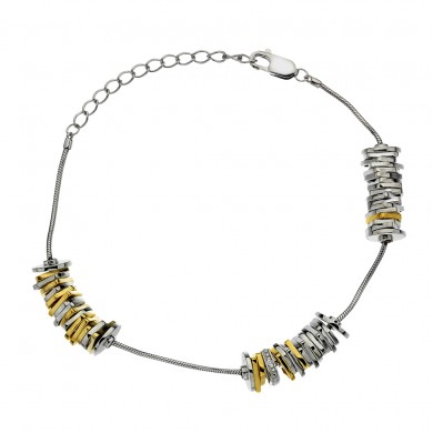 By the Shore Bracelet - Yellow Gold Plated Accents
