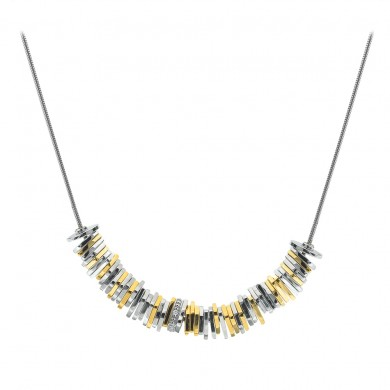 By the Shore Statement Necklace - Yellow Gold Plated Accents