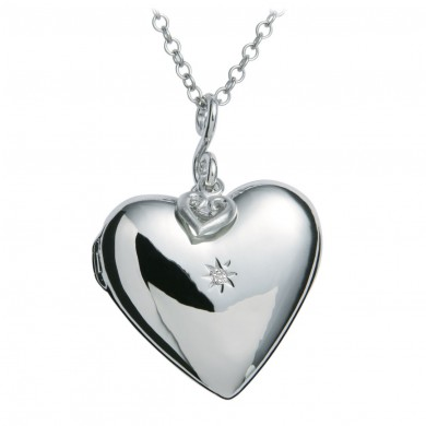 Starry Heart Silver Pendant