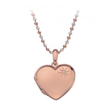 Memoirs Heart Pendant - Rose Gold Plated
