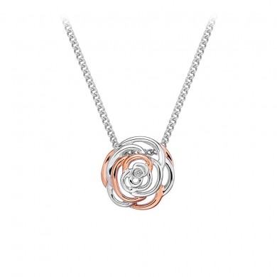 Eternal Rose Large Pendant - Rose Gold Plate Accents