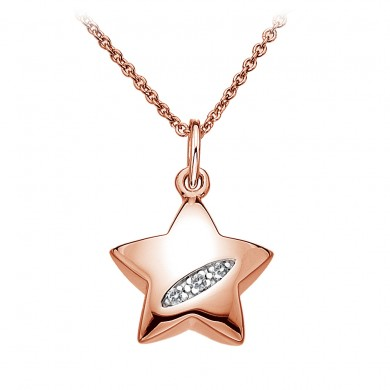 Shooting Stars Star Pendant - Rose Gold Plated