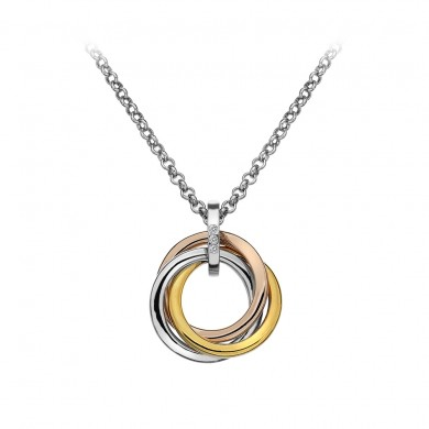Trio Pendant - Rose and Yellow Gold Plated Accents