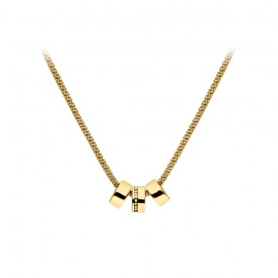 Trio  Necklace - Yellow Gold Plated