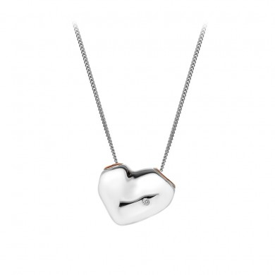 Lunar Heart Pendant - Rose Gold Plated Accents