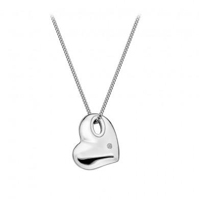 Lunar Pebble Heart Pendant