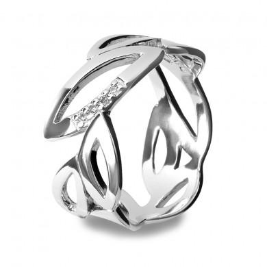 Multi Leaf Silver Ring