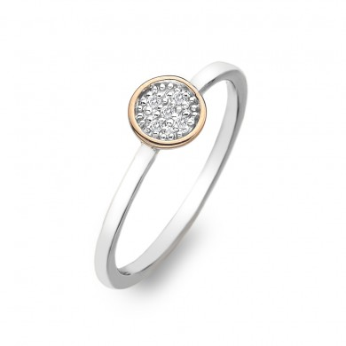 Stargazer Circle Ring - Rose Gold Plated Accents