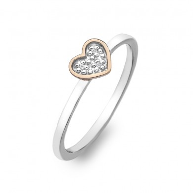 Stargazer Heart Ring - Rose Gold Plated Accents