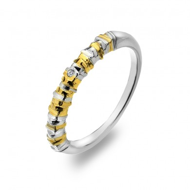 By the Shore Ring - Yellow Gold Plated Accents
