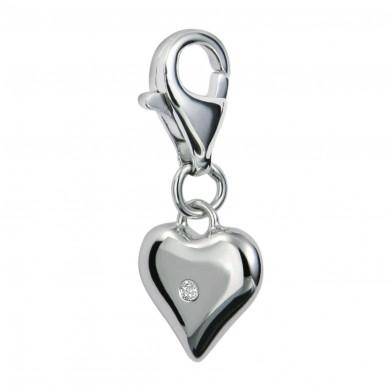 Love Token Silver Charm