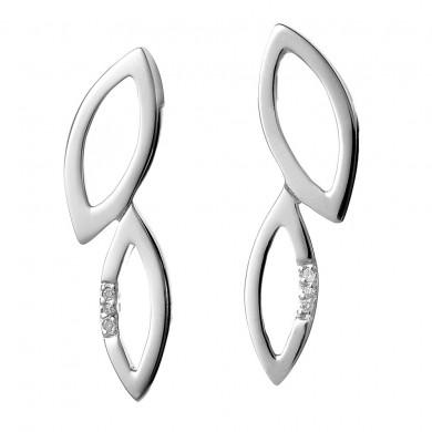 Multi Leaf Silver Earrings