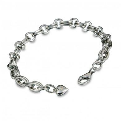 Statement Silver Charm Bracelet