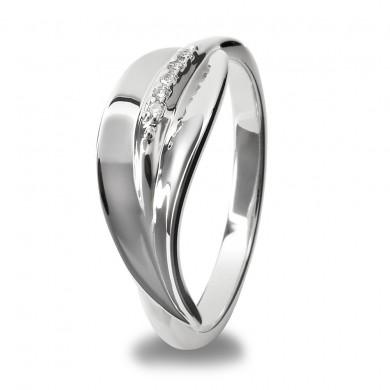 Leaf Stem Silver Ring