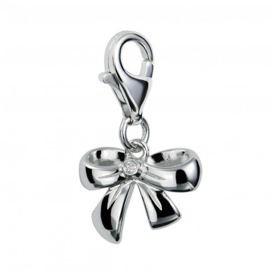 Romantic Ribbon Silver Charm