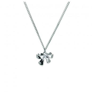 Romantic Ribbon Silver Charm Pendant