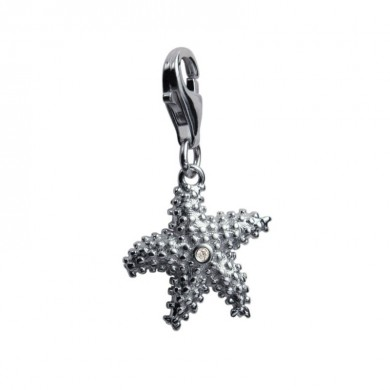 Starlet The Starfish Silver Charm
