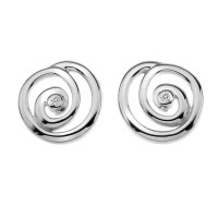 Eternity Spiral Stud Earrings