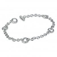 Elegance Silver Charm Bracelet