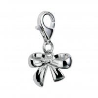 Romantic Ribbon Silver Charm