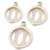 925 Gold Plated Coin Pendant